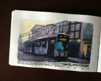 The trams of Amsterdam
