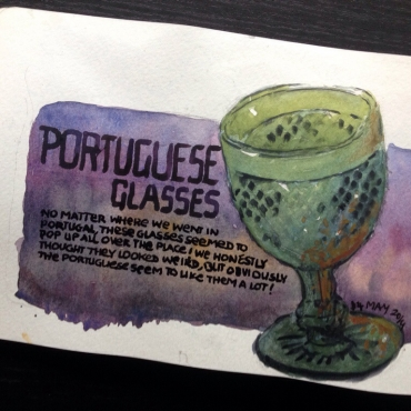 Portuguese glasses everywhere. Not quite to our taste.